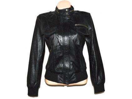 KOŽENÁ dámská černá měkká bunda na zip MIRAGE L