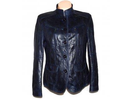 KOŽENÁ dámská modrá měkká bunda Bianca L