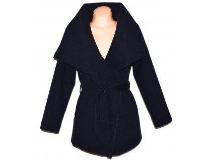 Dámský tmavě modrý kardigan kabát s páskem S - M