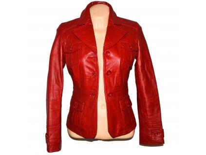 KOŽENÉ dámské červené měkké zateplené sako ORSAY XS