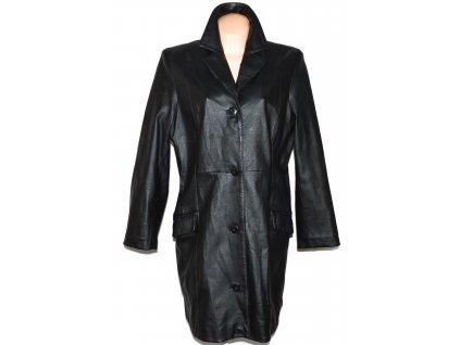 KOŽENÝ dámský černý měkký kabát DIFFERENT XL