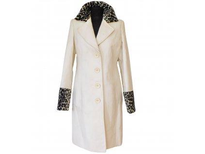 Dámský krémový kabát s leopardím vzorem Reporter 38