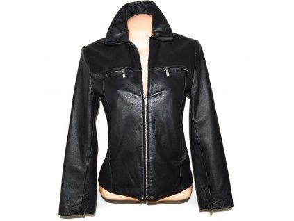 KOŽENÁ dámská černá měkká bunda na zip Todays 36