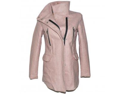 Dámský starorůžový kabát - křivák BERSHKA S