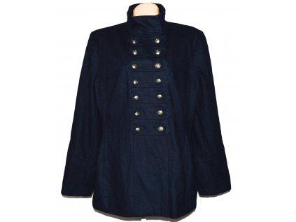 Vlněný dámský tmavě modrý kabát F&F XXXL/ UK 22