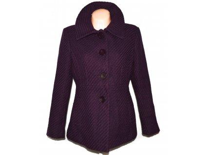 Vlněný (58%) dámský fialový kabát Debenhams 14/42