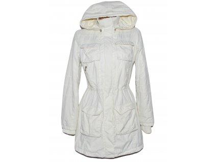 Dámská bílá zateplená parka s kapucí ONLY M