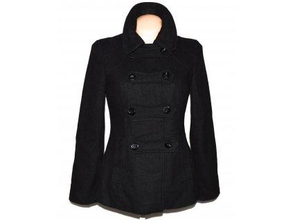 Vlněný (52%) dámský černý kabátek M&Co. M