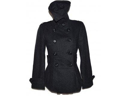 Vlněný (45%) dámský šedý kabát NEW LOOK 12/40