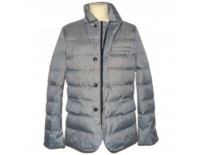 Pánská šedá prošívaná zateplená bunda - sako Outerwear M, L