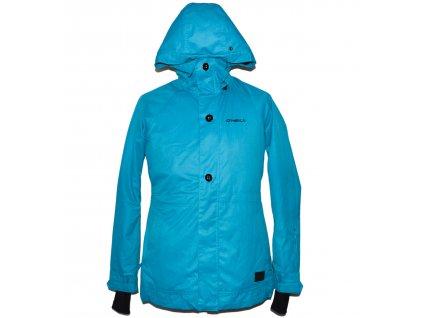 Lyžařská pánská tyrkysová bunda s kapucí O'neill S
