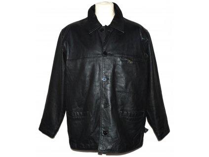 KOŽENÁ pánská černá měkká zateplená bunda Infuse Leather XL