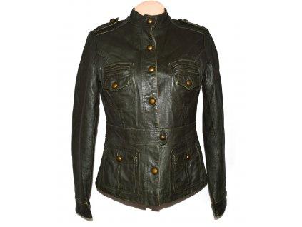 KOŽENÁ dámská khaki zelená měkká bunda JOY 40