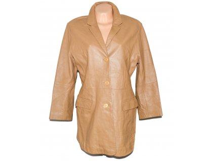 KOŽENÝ dámský hnědý měkký kabát FOREVER L