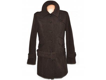 Dámský hnědý kabát s páskem MELROSE XL