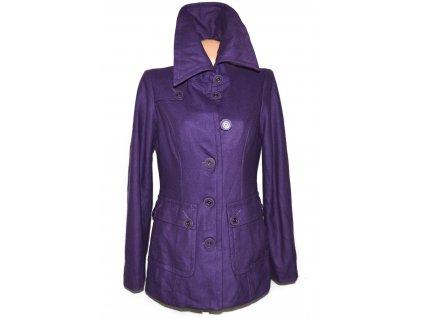 Vlněný (60%) dámský fialový kabát ONLY M