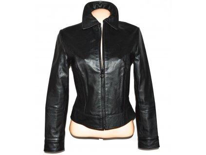 KOŽENÁ dámská černá měkká bunda na zip ZARA - Trafaluc M