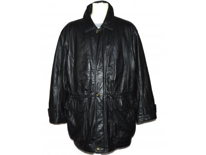 KOŽENÁ pánská černá měkká bunda na zip PRINCE XL/XXL