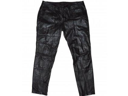 KOŽENÉ dámské černé měkké kalhoty PAPRIKA 46