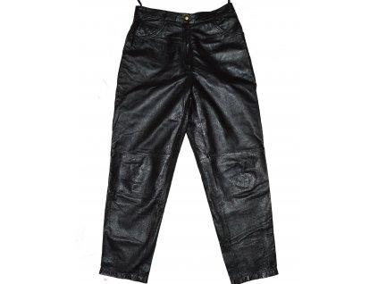 KOŽENÉ dámské černé měkké kalhoty M/L