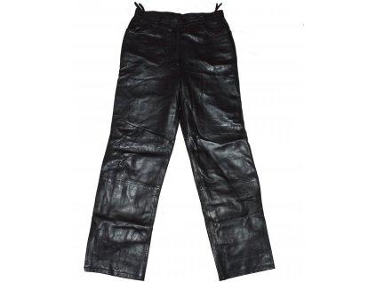 KOŽENÉ dámské černé měkké kalhoty Alba Moda UK 10