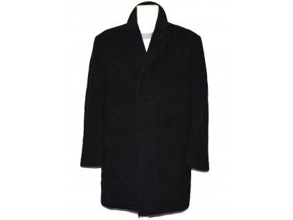 Vlněný (70%) pánský černý kabát Profashion (vlna,kašmír) L
