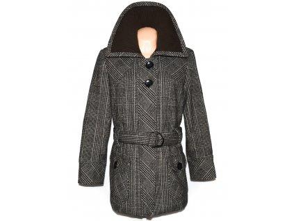 Dámský černohnědý kabát s páskem Essentials 44
