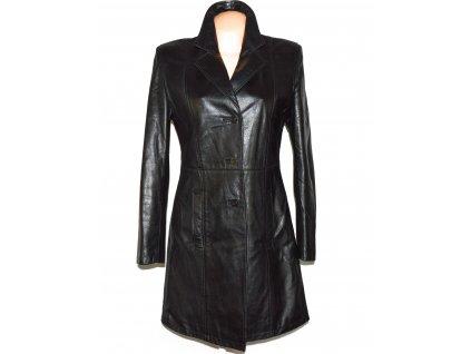 KOŽENÝ dámský černý měkký kabát Panter L