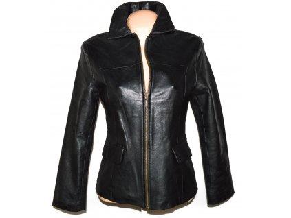 KOŽENÁ dámská černá měkká bunda na zip EVOCO S