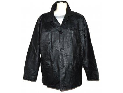 KOŽENÁ pánská černá měkká bunda KKM XL