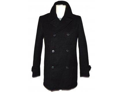 Pánský černý dvouřadý kabát H&M 46