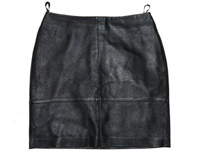 KOŽENÁ dámská černá měkká sukně 3suisses