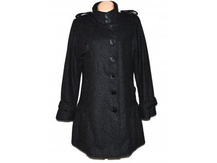 Vlněný (60%) dámský šedý kabát 16/44