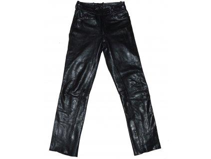 KOŽENÉ dámské černé měkké kalhoty 42