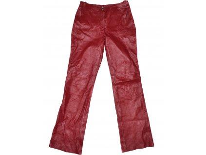 KOŽENÉ dámské červené kalhoty P.S. Company UK 12