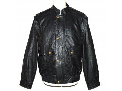 KOŽENÁ pánská černá měkká bunda na zip C&A L