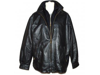 KOŽENÁ pánská černá měkká zateplená bunda Via Cortesa 54 7