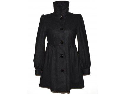 Vlněný (50%) dámský černý kabát AMISU 36
