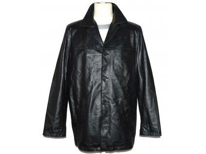KOŽENÁ pánská černá měkká bunda Yes man M/L