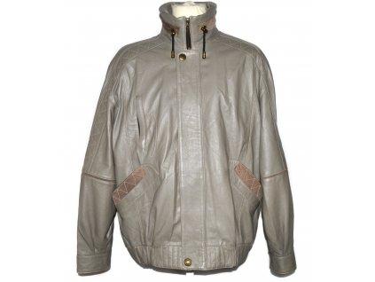 KOŽENÁ pánská měkká bunda na zip MP Moda L/XL