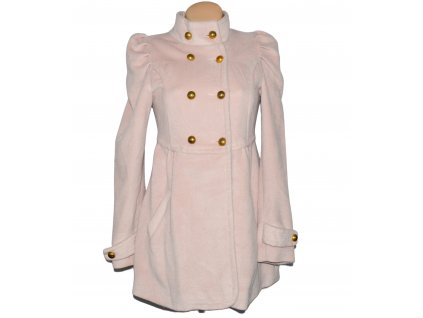 Dámský růžový dvouřadý kabát Yumi S