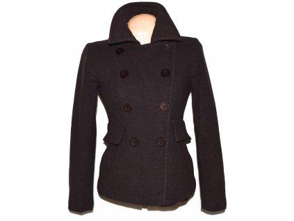 Vlněný (80%) dámský čokoládový kabát NEXT 10/38