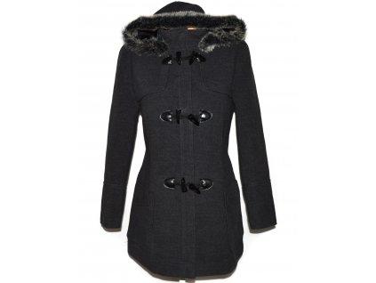 Dámský šedý kabát s kapucí F&F M