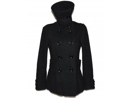 Vlněný (55%) dámský černý kabátek NEW LOOK XS