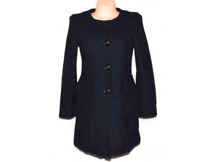 Vlněný dámský tmavě modrý kabát S
