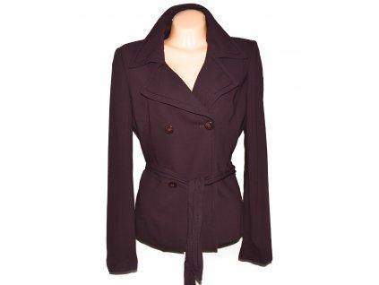Dámský fialový kabát s páskem SALLY XL