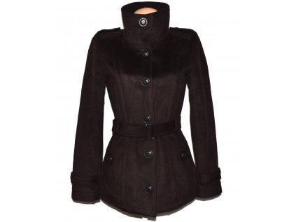Dámský hnědý kabát s páskem ONLY S