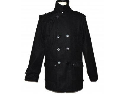 Pánský černý dvouřadý kabát Soulstar M/L