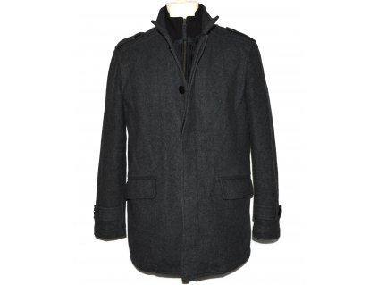 Vlněný (70%) pánský šedý zimní kabát F&F Signature M