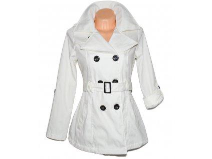 Bavlněný dámský bílý kabát s páskem NEW LOOK M